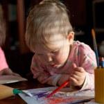 Drawing children — Stock Photo