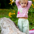 Cute baby-girl outdoors — Stock Photo #8664977