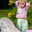 Cute baby-girl outdoors - Zdjcie stockowe