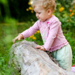 Baby-girl outdoors - Foto Stock