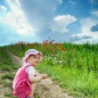 Girl amongst field - Stock Photo