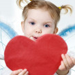 Cupid with heart — Stock Photo #8665444
