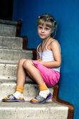 Sitting girl — Stock Photo