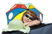 Girl wit umbrella — Stock Photo