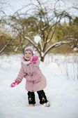 Playing snowballs — Stock Photo