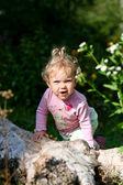 Baby-girl outdoors — Stock Photo