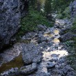 Great italian mountains and a stream — Stockfoto #9362501
