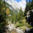 Great italian mountains and a stream — Stock Photo #9362574