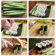 Cooking sushi - Stock Photo