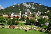 Una aldea en las montañas — Foto de Stock