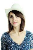 帽子の若い美しい女性 — ストック写真