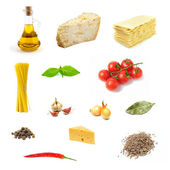 Set of various products of italian food — Stock Photo