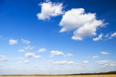Blue skys and clouds — Stock Photo
