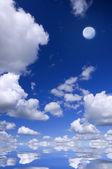 Moon on the blue . — Stock Photo
