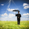 The person with an umbrella — Stock Photo
