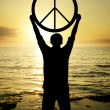 The sign of peace - Stock Photo