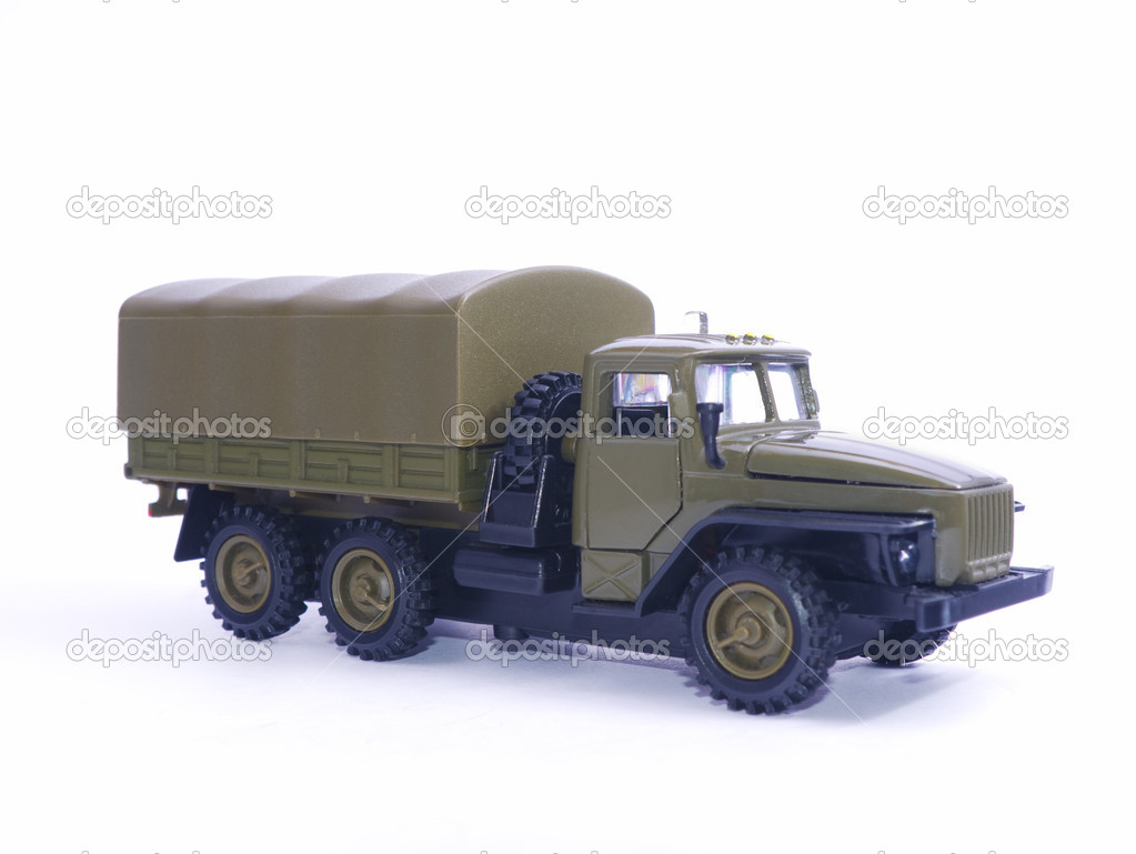 Toy model of the car Ural isolated on white — Stock Photo #9789391