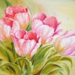Stock Photo: Oil Painting tulips