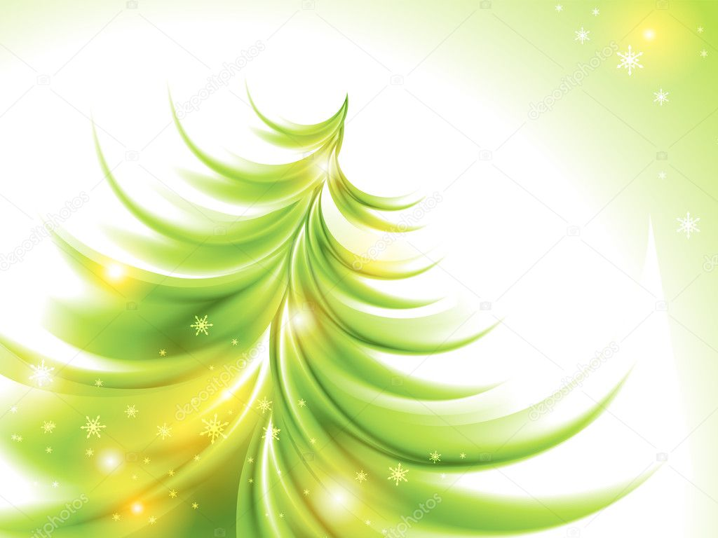 Abstract christmas tree (no mesh) — Imagen vectorial #8022895