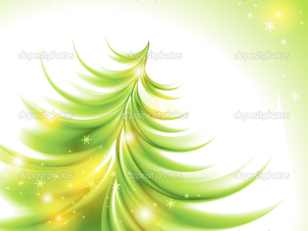 Abstract christmas tree (no mesh) — Stockvectorbeeld #8022895