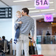 Father and son at the airport — Stock Photo