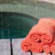 Wrapped towels — Stock Photo
