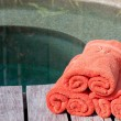 Wrapped towels — Foto de Stock