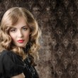 Vintage style portrait on retro background. — Stock Photo #10069036