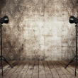 Stock Photo: Photo studio in old grunge interior