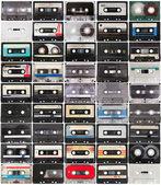 Colección de cintas de audio retro — Foto de Stock