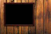 木製の壁のビンテージ フレーム — ストック写真