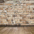 Stock Photo: Old room with brick wall