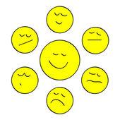 Smiles yellow — Stock Vector