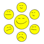 Yellow forum smiles — Stock Vector
