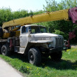 Stock Photo: Truck with crane