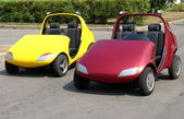 Two child cars — Stock Photo
