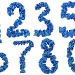 число 0, 1,2,3,5,6,7,8 атласная лента — Стоковое фото