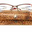 Glasses with case - Stock Photo