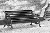 公园的长椅上 — 图库照片