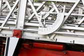 Fire truck angle meter — Stock Photo