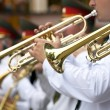 Stock Photo: Marching Band Trumpets