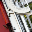 Fire truck azimuth disk - Stock Photo