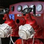 Fire truck control panel — Stock Photo