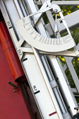 Fire truck azimuth disk — Stock Photo