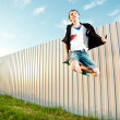 Royalty-Free Stock Photo: Jumping man