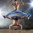 Two men dancing — Stock Photo