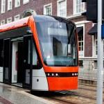 Modern tram — Stock Photo #8610695