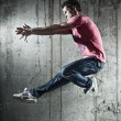 Young man dancer jumping — Stock Photo #8610704