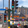 Citycsape with traffic lights - Stock Photo