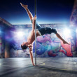 Pole dance man — Stock Photo